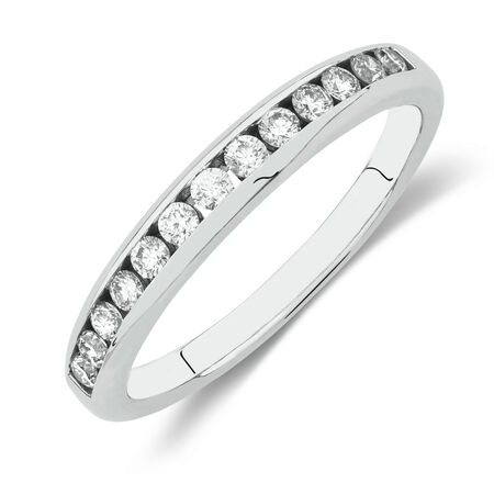 Online Exclusive - Wedding Band with 0.33 Carat TW of Diamonds in 18ct White Gold