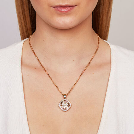Enhancer Pendant with 1/2 Carat TW of Diamonds in 10ct Yellow Gold