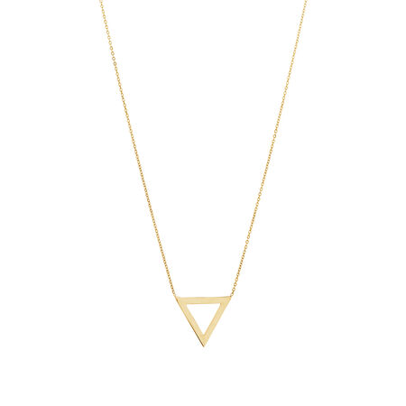 Triangle Necklace in 10ct Yellow Gold