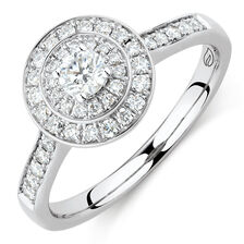 Whitefire Engagement Ring with 1/2 Carat TW of Diamonds in 18ct White & 22ct Yellow Gold