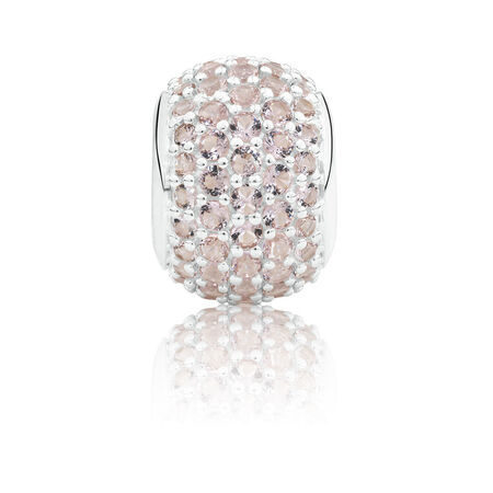 Faceted Charm in Blush Crystal