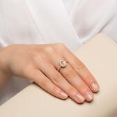 Sir Michael Hill Designer Fashion Ring with Morganite & 1/4 Carat TW of Diamonds in 10ct Rose Gold