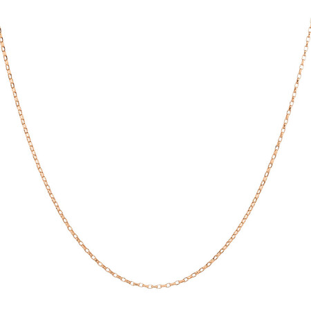 """70cm (28"""") Solid Belcher Chain in 10ct Rose Gold"""