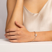 Bangle with Cultured Freshwater Pearl in Sterling Silver