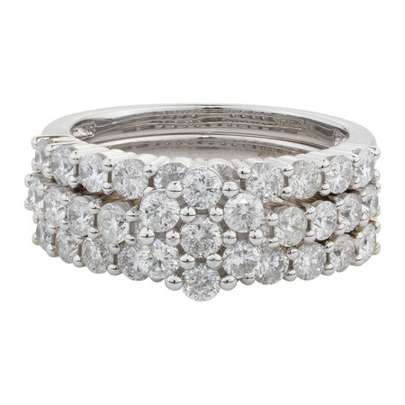 Online Exclusive - Bridal Set with 2 Carat TW of Diamonds in 14ct White Gold