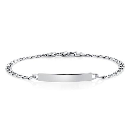 """19cm (7.5"""") Identity Bracelet in Sterling Silver"""