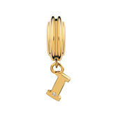Diamond Set & 10ct Yellow Gold 'I' Charm