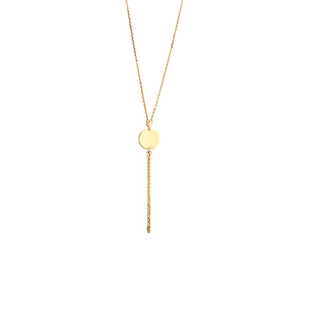Tassle Drop Necklace in 10ct Yellow Gold