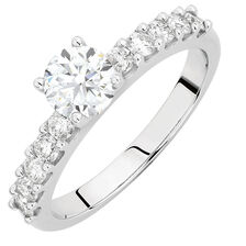 Engagement Ring with 1.10 Carat TW of Diamonds in 14ct White Gold