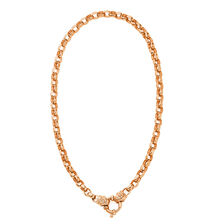 "45cm (18"") Diamond Set Solid Belcher Chain in 10ct Rose Gold"