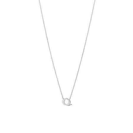 'Q' Initial Necklace in Sterling Silver