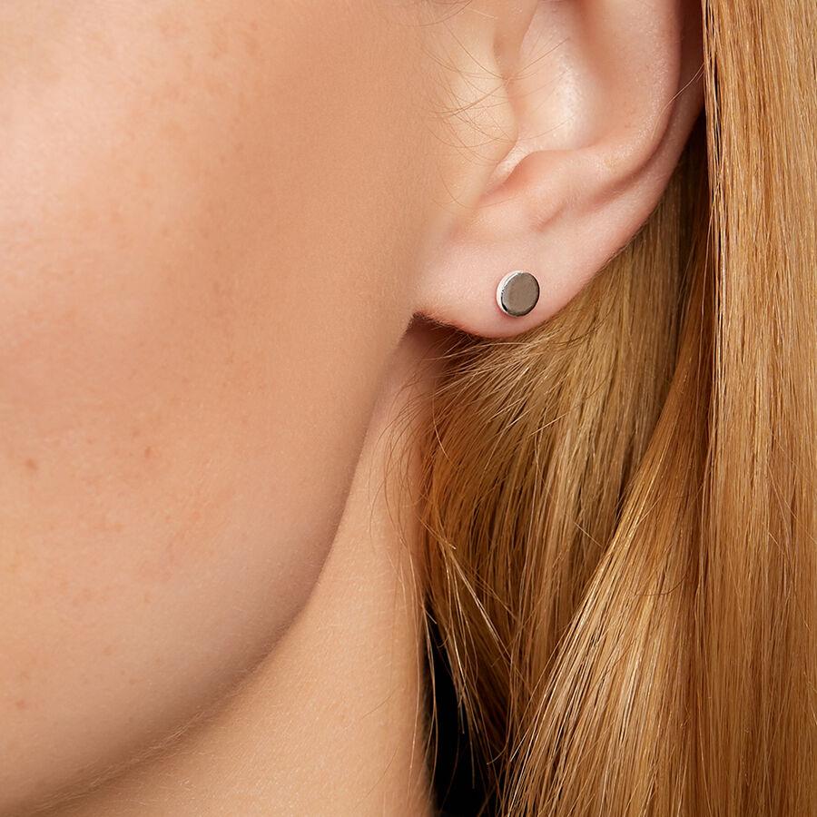 Disc Stud Earrings in Sterling Silver