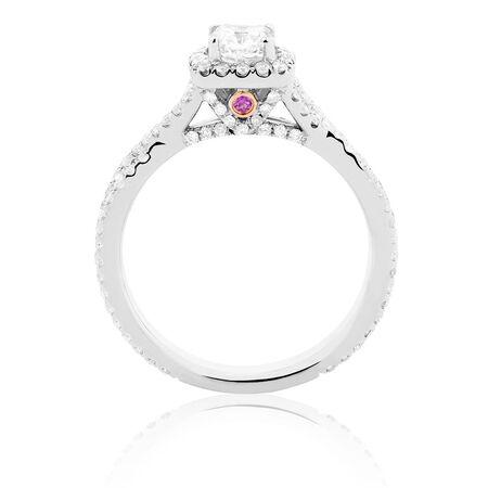 Sir Michael Hill Designer GrandAdagio Engagement Ring with 1.18 Carat TW of Diamonds in 14ct White Gold
