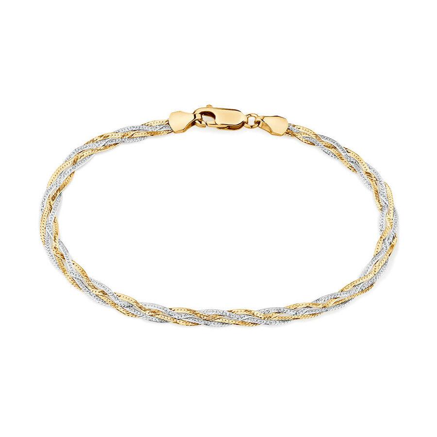 """21cm (8"""") Fancy Bracelet in 10ct Yellow & White Gold"""