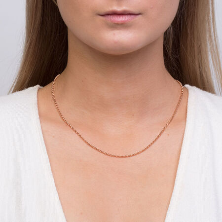 """45cm (18"""") Hollow Belcher Chain in 10ct Rose Gold"""