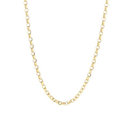 "70cm (28"") Oval Belcher Chain in 10ct Yellow Gold"
