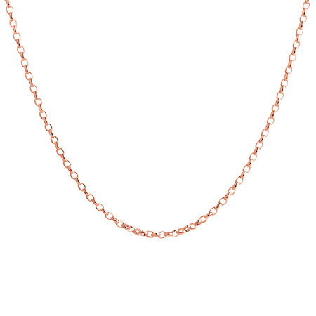 """55cm (22"""") Hollow Belcher Chain in 10ct Rose Gold"""