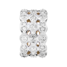 Charm with 0.26 Carat Total Weight of Diamonds in 10ct Yellow Gold & Sterling Silver