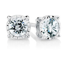 Stud Earrings with 1/4 Carat TW of Diamonds in Sterling Silver