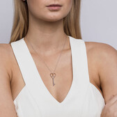 Infinitas Key Pendant in Sterling Silver & 10ct Rose Gold