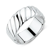 Men's Patterned Ring in 925 Sterling Silver