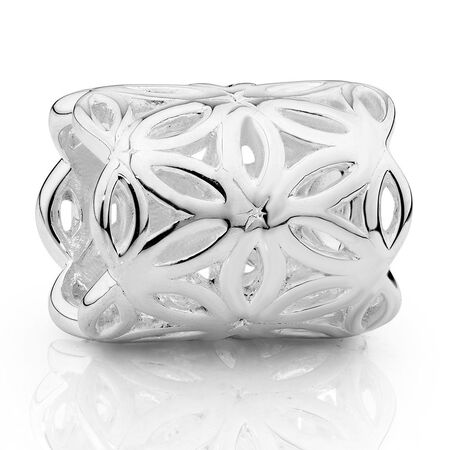 Sterling Silver Flower Wild Hearts Mini Sleeve