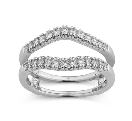 Evermore Ring Enhancer with 0.50 Carat TW of Diamonds in 14ct White Gold