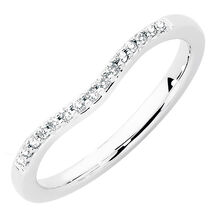 Wedding Band with Diamonds in 18ct White Gold