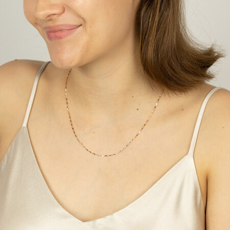 """45cm (18"""") Infinity Chain in 10ct Rose Gold"""