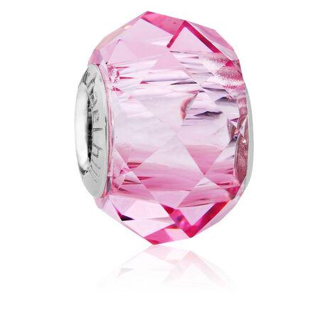 Light Rose Crystal Charm