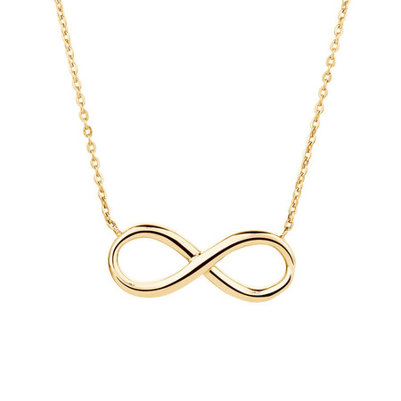 Infinity Necklace in 10ct Yellow Gold