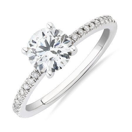 Laboratory-Created 1.14 Carat TW of Diamond Ring In 14ct White Gold