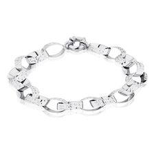 "19cm (7.5"") Belcher Bracelet in 10ct White Gold"