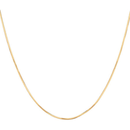 """40cm (16"""") Snake Chain in 10ct Yellow Gold"""