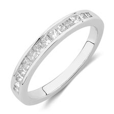 Wedding Band with 0.41 Carat TW of Diamonds in 14ct White Gold
