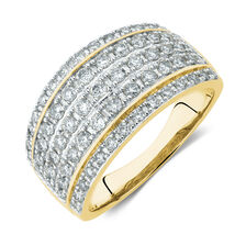 2bcc4a8ba Ring with 1 Carat TW of Diamonds in 10ct Yellow Gold ...