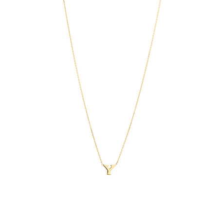 """""""Y"""" Initial Necklace in 10ct Yellow Gold"""