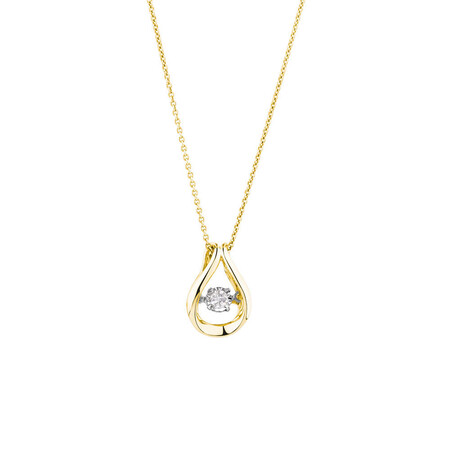 Everlight Pendant with a 1/4 Carat TW Diamond in 10ct Yellow Gold