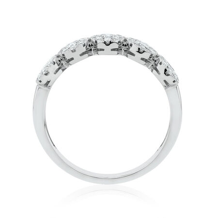 Bubble Ring with 0.64 Carat TW of Diamonds in 14ct White Gold