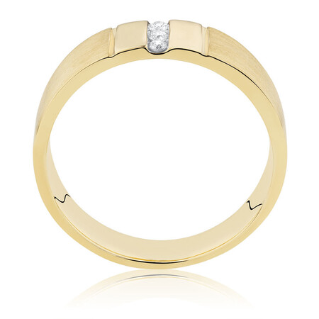 Men's Diamond Set Ring in 10ct Yellow Gold