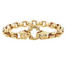 "19cm (7.5"") Diamond Set Belcher Bracelet in 10ct Yellow Gold"