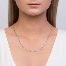 "50cm (20"") Singapore Chain in 10ct White Gold"