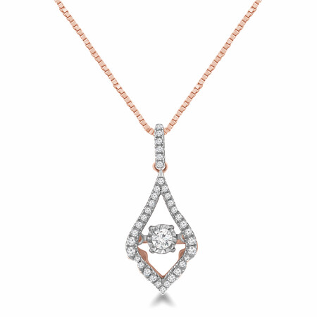 Everlight Pendant with 0.25 Carat TW of Diamonds in 10ct Rose Gold