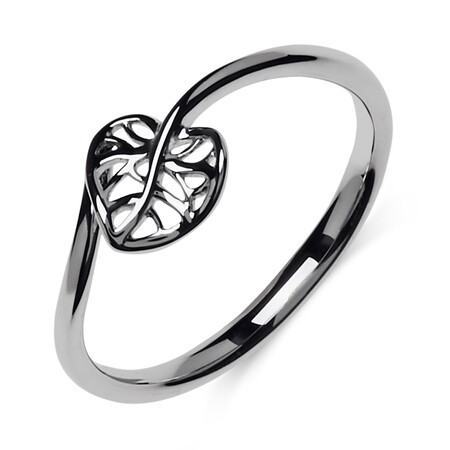 Heart Leaf Ring in Sterling Silver