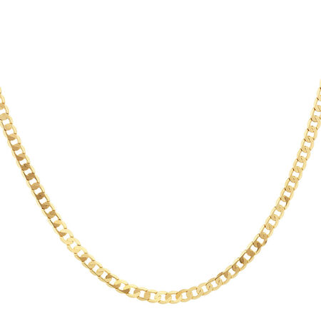 "50cm (20"") Solid Curb Chain in 10ct Yellow Gold"