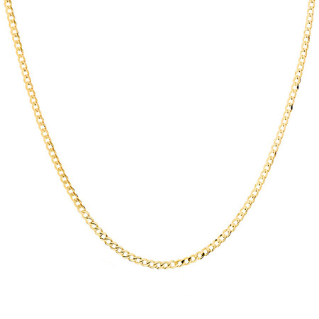 "60cm (24"") Curb Chain in 10ct Yellow Gold"