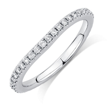 Sir Michael Hill Designer GrandArpeggio Wedding Band with 0.33 Carat TW of Diamonds in 14ct White Gold
