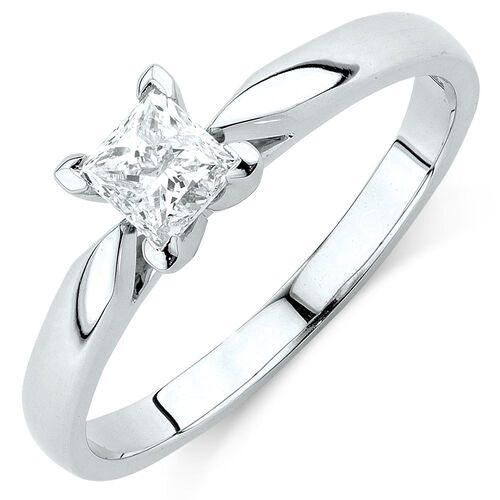Evermore Solitaire Engagement Ring with 0.50 Carat TW Diamond in 14ct White Gold