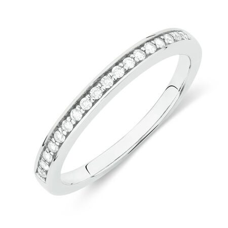 Online Exclusive - Wedding Band with 1/4 Carat TW of Diamonds in 18ct White Gold