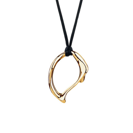 Large Spirits Bay Solid Pendant in 10ct Yellow Gold